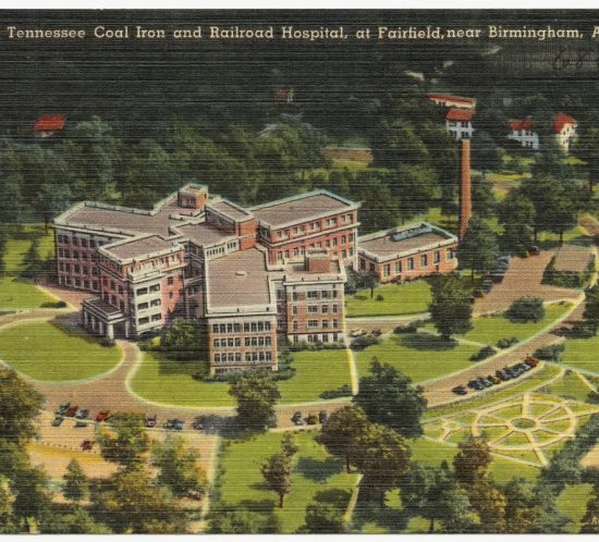Aerial view, Tennessee Coal Iron and Railroad Hospital, at Fairfield, near Birmingham, Ala. 1930