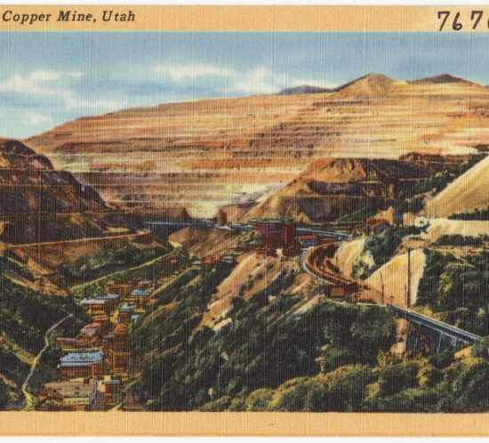 Bingham Copper Mine, Utah. 1930