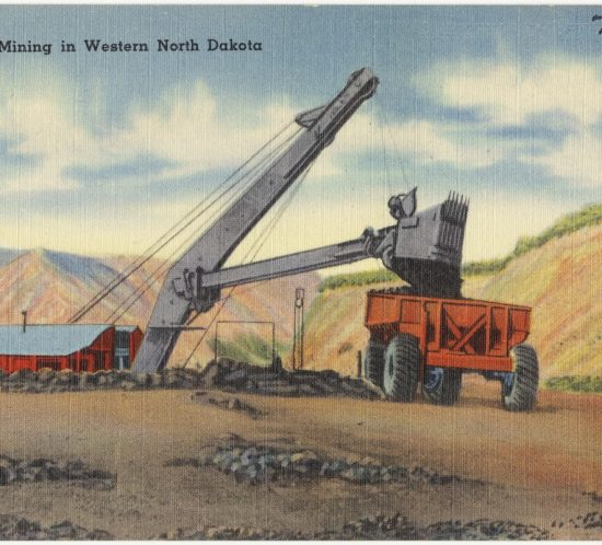 Lignite mining in Western North Dakota. 1930
