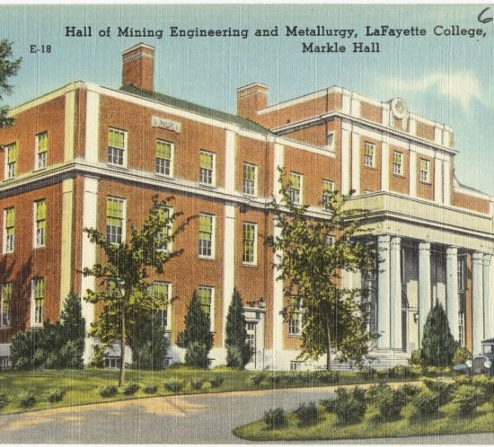 Hall of Mining Engineering and Metallurgy, LaFayette College, Easton, Pa., Merkle Hall. 1930