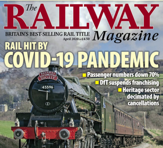 Portada de la revista The Railway Magazine - Abril 2020