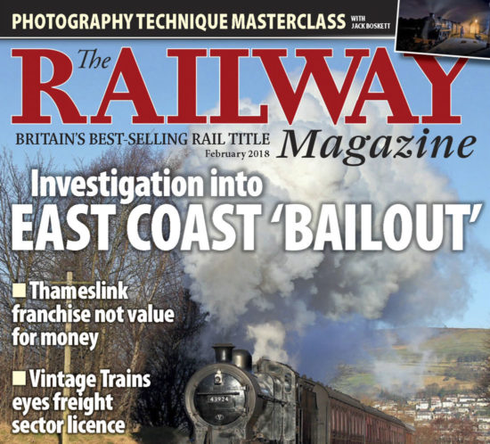 Portada de la revista The Railway Magazine - Febrero 2018