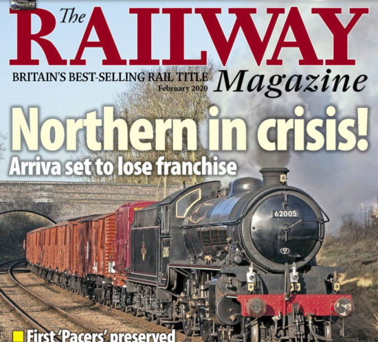 Portada de la revista The Railway Magazine - Febrero 2020